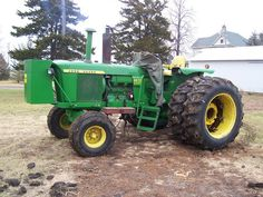 JOHN DEERE 4020  -  The backbone of our farming operation in the 60's and 70's.  TAO