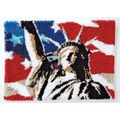 Lady Liberty Latch Hook Rug Kit
