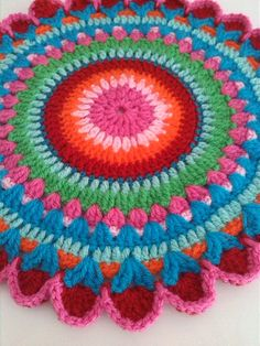 Multicolour crochet