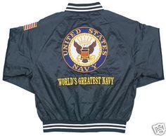 "United States Navy ""World's Greatest Navy"" Satin Jacket"