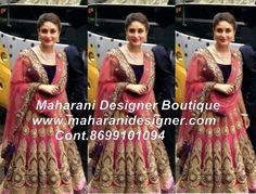 #BridalLehengasOnline Maharani Designer Boutique  www.maharanidesigner.com Cont.8699101094