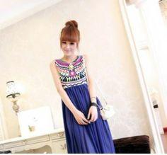 HOT Damen Boho Sommer lang Maxikleid Chiffon Kleid Strandkleid Party Dress -JJ | eBay