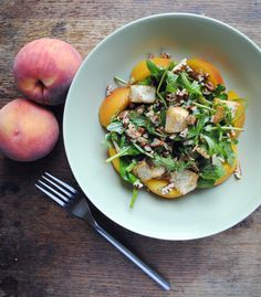 Peach salad with pecans and cheddar... Kitchenist blog