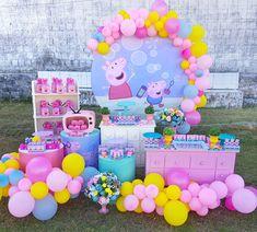 Princess Peppa Pig Party, Peppa Pig Party Ideas, Peppa Pig Birthday Cake, Jungle Theme Birthday, 3rd Birthday Parties, 2nd Birthday, Cumple De Frozen Ideas, Fiestas Peppa Pig, Aaliyah Birthday