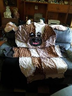 Cuddly Cow quilt, must tweak bear pattern and make this!