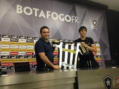 BotafogoDePrimeira: VÍDEO Zeballos é apresentado e quer marcar de novo...