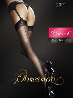7973b5e8f85a60 MARLENA 20 den. Sexy stockings with a delicate back seam pattern. Smart  matte finish and invisibly reinforced toe portion for elegance. FIORE