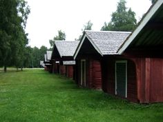 Church stables next to Närpes church. There are about 150 stables left around the church. Photo: Geneviève Gagnon