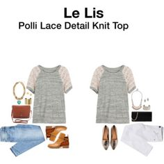 Le Lis Polli Lace Detail Knit Top -- Meghan I really like this one! Looks comfy and like I can dress it up or down.