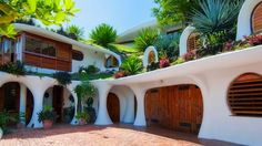 Several interesting earth homes