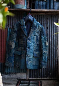 . Old Man Fashion, Denim Fashion, Boro, Remake Clothes, Diy Vetement, Jeans Fabric, Jeans Denim, Denim Patchwork, Fashion Fabric