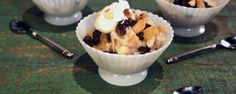 Rice Pudding with Pineapple Compote Recipe | The Chew - ABC.com.  This is the BEST! Maybe try half of the sweetened condensed milk though, kind of too sweet for me. But OH SO YUMMY!