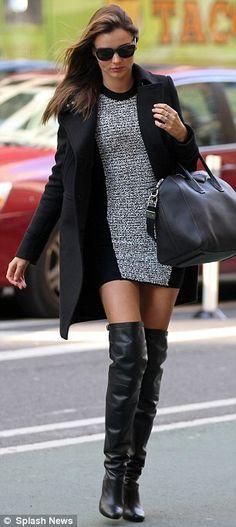 Miranda Kerr--damn those boots again! LOVE
