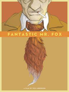 Alternative movie poster for Fantastic Mr. Fox by Randy Ortiz