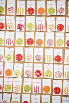 Best Place Card Ideas: Wedding Invitations Photos by Trisha Dean Events  I like how they're pinned up.