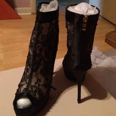 Madison Heels By ShoeDazzle Six Inch Beaded Open Toe Heel. Never Worn. Great With Any Outfit Or Occassion. Fit To Size Very Comfy I Own A Pair. I Enjoy Wearing These Heels. Madison  Shoes Heels