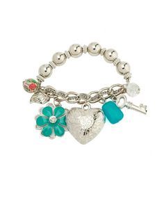 I like this Charm Bracelets so much. Personalized Jewelry, Betsey Johnson, Charlotte Russe, Jewlery, Jewelry Accessories, Gems, Heart Charm, Charmed, Fancy