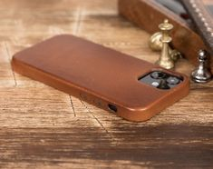 Genuine leather cover Iphone Leather Case, Iphone Wallet Case, Iphone Cases, Car Holder, Leather Cover, Sunglasses Case, Brown, Mini, Handmade