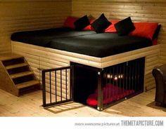 Built in pet bed