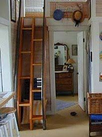 Love this ladder/stairs...would be  perfect at our cabin for getting up to the loft!