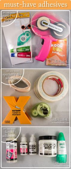 Must-Have Adhesives - Tips and Tricks blog post by Britta Swiderski