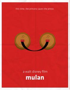 Minimalist Movie Posters: Mulan