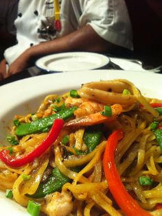 New menu item - Seafood Linguine  Hot and spicy, wof-fried pasta with spicy tom yam sauce with scculent seafood and fresh vegetable.