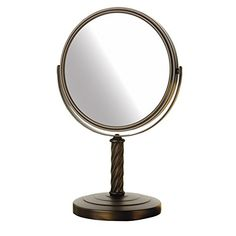 Jerdon Mirror with Magnification, Bronze Finish * Check out this great product. (This is an affiliate link)