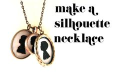DIY Silhouette Pendants @Laura Slown, I want to make these, too!!