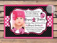 8 best pink ladybug first birthday invitations images on pinterest these are the cutest hot pink and black ladybug 1st birthday invitations 1stbirthdayladybug filmwisefo