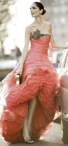 """Armani  Not a big fan of the """"poofy"""" bottom, but love the style of the upper part of the dress!"""