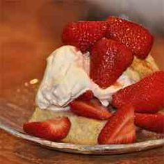 Strawberry Shortcakes. Great biscuit/shortcake in general, could be used for breakfast too!