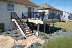 I like the landscape and patio under the deck Under Deck Landscaping, Patio Under Decks, Decks And Porches, Backyard Patio, Outdoor Deck Decorating, Outdoor Decor, Patio Deck Designs, Building A Deck, Outdoor Spaces