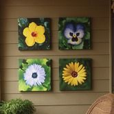 Found it at Wayfair - Country French Garden Wall - I think I could try and recreate...done by Paula Crawford's Color Your Patio