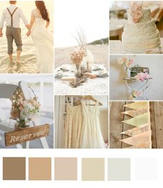 COLOUR SCHEMES: Different grades of nude and blush pink are perfect for a beach or rustic barn wedding!