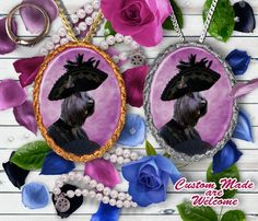 Giant Schnauzer Pendant Brooch Necklace Dog by NobilityDogs Giant Schnauzer, Brooch, Dog, Pendants, Hats, Brooch Pin, Hat, Doggies, Pendant