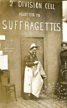 Suffragettes in Prison. Women In History, British History, Women Suffragette, Women Right To Vote, Suffrage Movement, Feminist Movement, Riot Grrrl, Weird World, Amazon Kindle