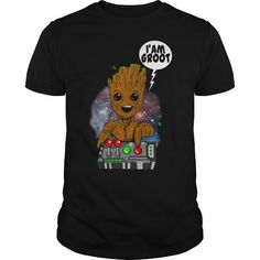 Awesome Tee Groot Guardians Dont push the Button TShirt Shirts & Tees