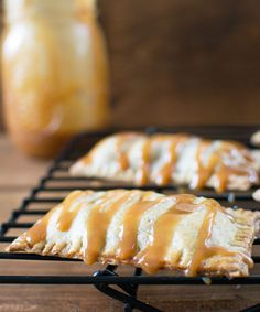 Flaky pastry surrounds sweetened apples and walnuts topped with a buttery caramel glaze.