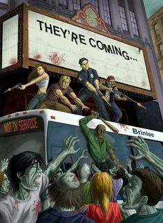 Zombies -:::- Coming to a theatre near you! Resident Evil, Arte Zombie, Zombie Art, Horror Show, Horror Art, Best Zombie, Apocalypse Art, Zombie Attack, Zombie Movies