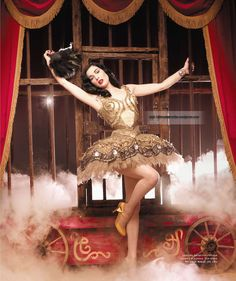 Dita Von Teese is the perfect inspiration for a Halloween Circus Pin Up Girl! :: Pin Up Halloween Costumes:: Circus