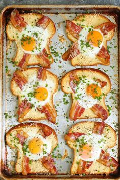 Sheet Pan Egg-in-a-Hole A quick classic that comes together right on a sheet pan! Less mess, less fuss and just way easier than the stovetop version! - 40 Excellent Egg Recipes: Best For Breakfast Or Brunch Breakfast Dishes, Breakfast Time, Healthy Breakfast Recipes, Healthy Recipes, Breakfast Ideas With Eggs, Breakfast Toast, Breakfast For Dinner, Healthy Breakfasts, Easy Egg Recipes