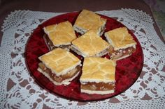 The moist and delicious Hungarian version of the Apple pie cut into squares. My favorite!