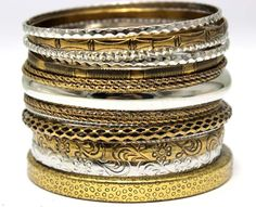 Wholesale Antique Gold Plated Mix Silver Plated Vintage Metal Bangles.Pulsera Punk Indian Jewelry Stacking Bracelet Set-in Bangles from Jewelry on Aliexpress.com | Alibaba Group