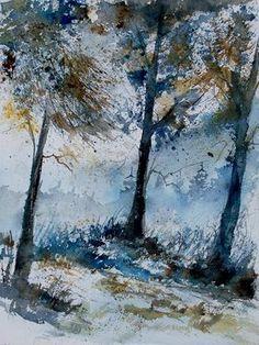 "Saatchi Art Artist Pol Ledent; Painting, ""watercolor 080108"" #art"