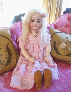 "32"" Kammer Reinhardt Simon Halbig Antique Doll So Pretty in Pink"