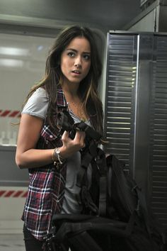 Chloe Bennet, Marvel's Agents of SHIELD. She's so good! What a fantastic character.