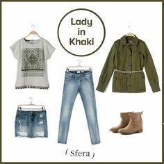 Lady in khaki