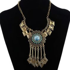 Egyptian Big Gem Necklace