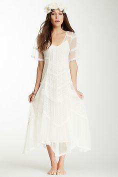 simple hippie bride Crisp Dotted Mesh Elson Dress by Free People on @HauteLook